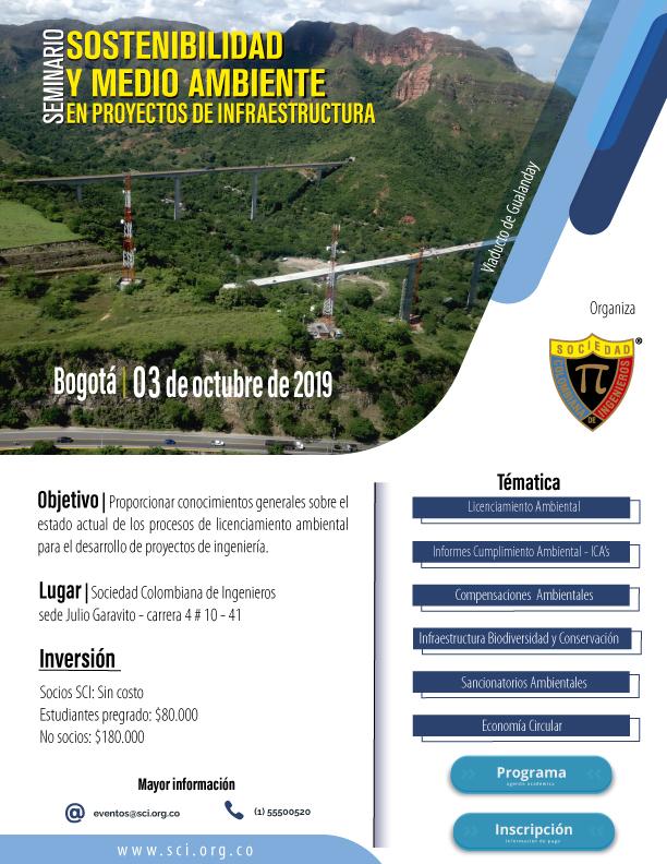 Seminario | sostenibilidad y medio ambiente en proyectos de infraestructura