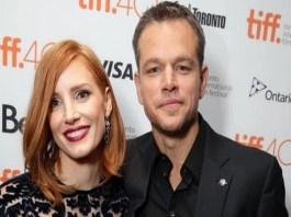 Matt Damon And Jessica Chastain Attending The European Premier of 'The Martian'