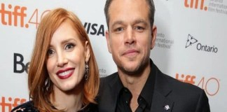 Matt Damon And Jessica Chastain Attending The European Premier of 'The Martian'