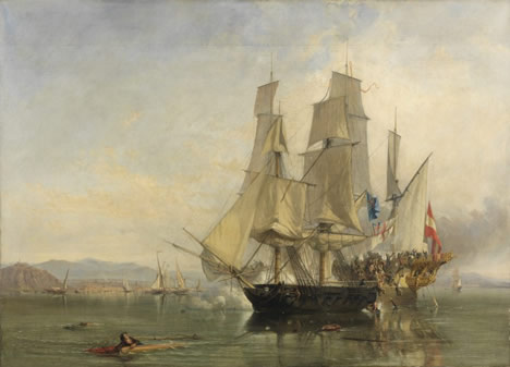 Painting of the capture of the El Gamo