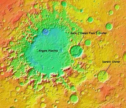 Darwin Crater on Mars