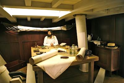 recreation of Darwin's Cabin on the Beagle