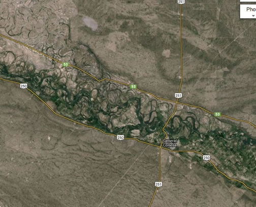 meander scars on Rio Negro