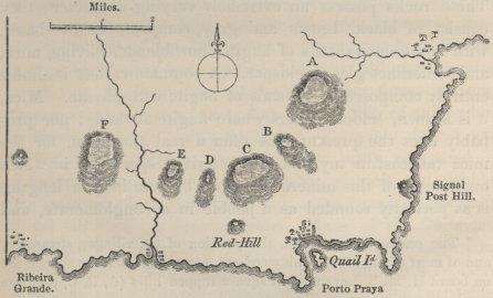 Map of Praia from Darwin