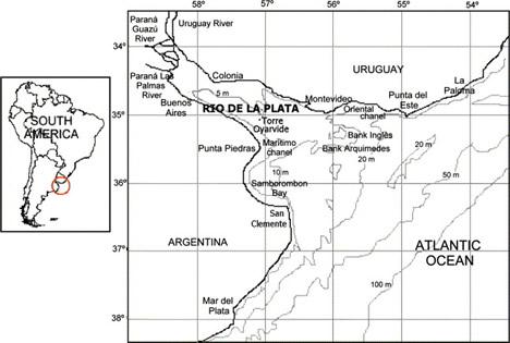 Bathymetric Map of the Rio de la Plata