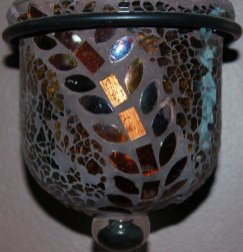 Candle in Mosaic Glass, Copyright 2014, Teresa Coppens