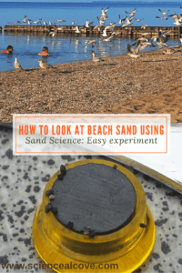 How to Look at Beach Sand using Sand Science- Easy experiment - http://sciencealcove.com/2015/08/what-is-beach-sand-made-of/