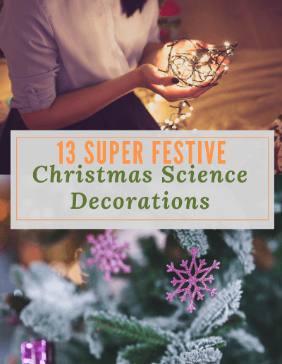 Christmas science decorations --- say whaaaat? Who says there is no science in Christmas? Which ideas will you try out with your students or kids? #periodictable #pipecleaners #kids #trees #fun #boraxsnowflakes