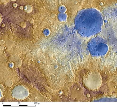 Ancient snowfall likely carved Martian valleys