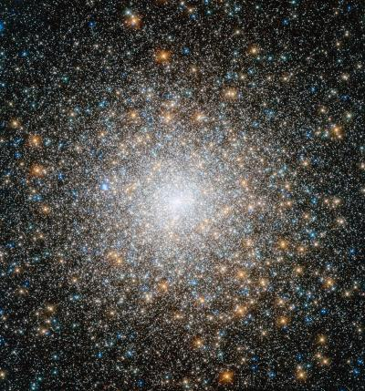 Hubble views an old and mysterious cluster
