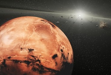 Asteroids' close encounters with Mars