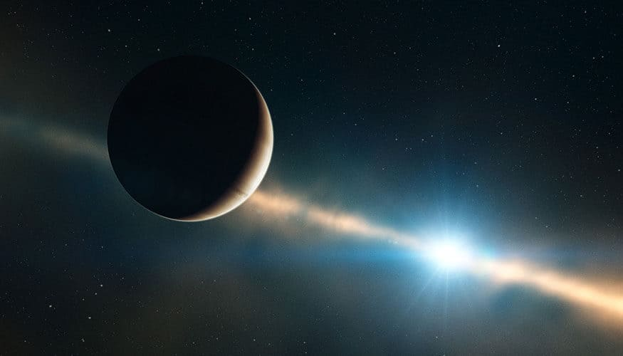 Giant telescope tackles orbit and size of exoplanet