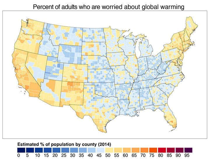 Map shows who does and doesn't but into climate change