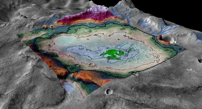 Salt flat indicates some of the last vestiges of surface water on Mars