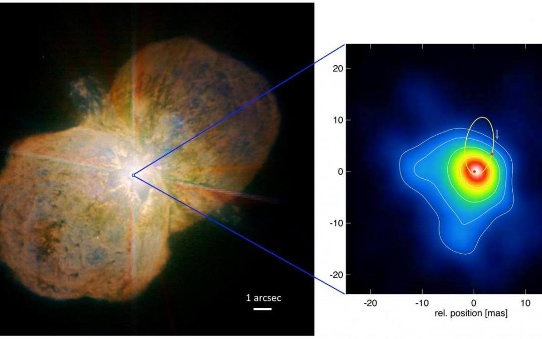 Deep-space images show violent wind collision in one of the heaviest stars in our galaxy