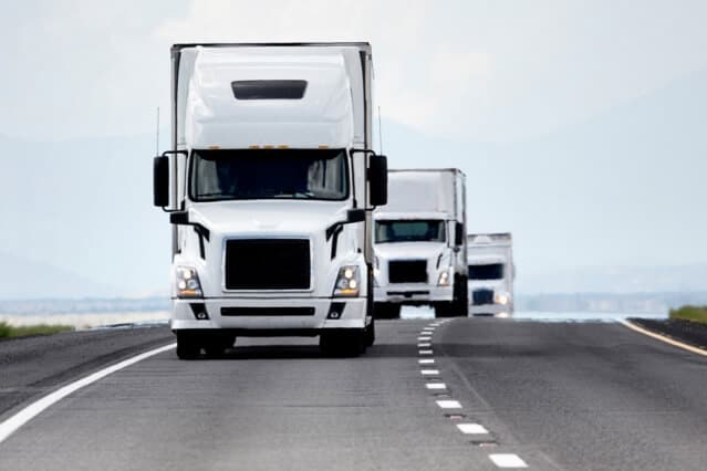Autonomous trucks that drive in packs could save time and fuel