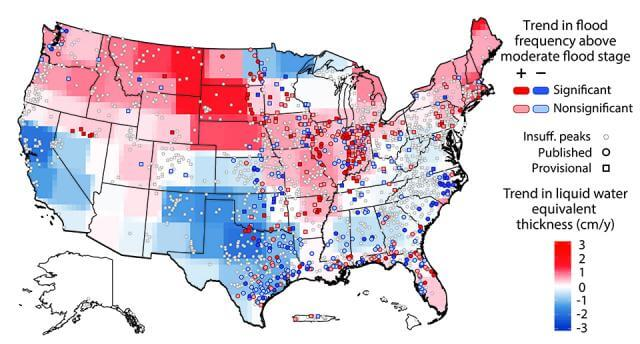 Flood threats changing across US