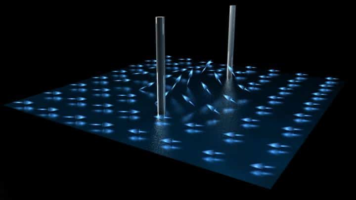 Researchers discovered elusive half-quantum vortices in a superfluid