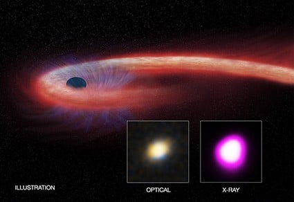 Black hole meal sets record for length and size