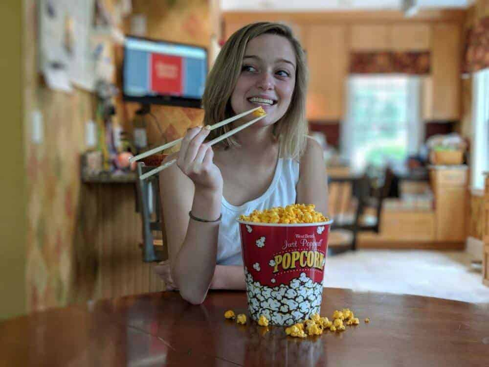 Why popcorn tastes better when you eat it with chopsticks