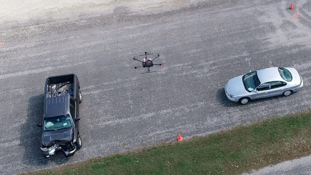 Drones shown to make traffic crash site assessments safer, faster and more accurate