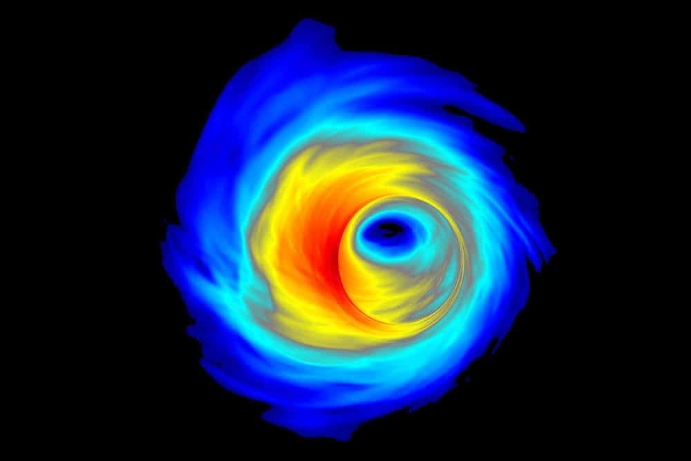 New study suggests 'Pac-Man-like' mergers could explain massive, spinning black holes