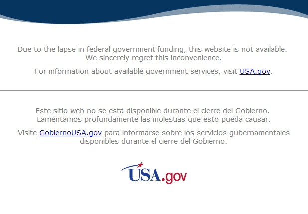 Screenshot https://www.nasa.gov vom 6. Okt. 2013