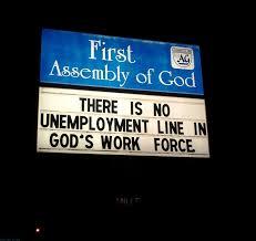 unemployment line god
