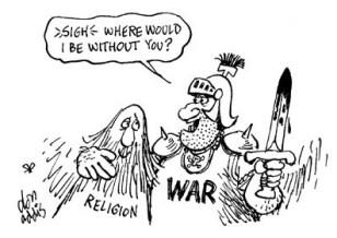 religion politics war