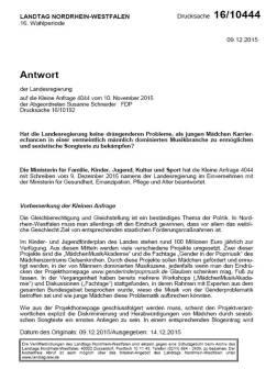 FDP KLeine Anfrage NRW