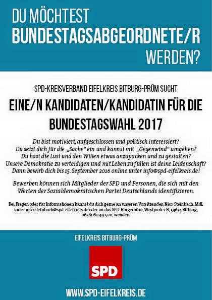 SPD BUndestagsabgeordneter Bitburg