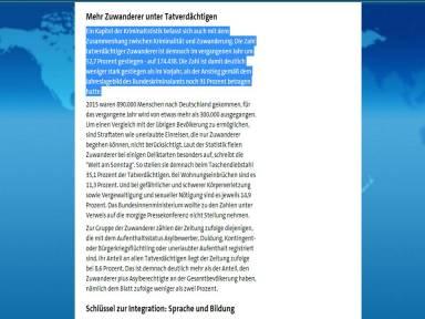 ARD Manipulation Fluechtlinge