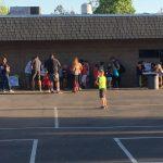Activity stations at De Portola Elementary