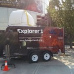 Mobile Observatory parked outside the Museum of Idaho
