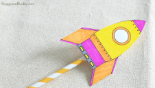Straw Rocket Craft