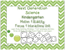 Teachers Pay Teachers – Kindergarten Next Generation Science Motion Complete Unit