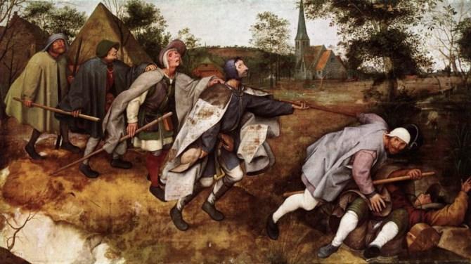 Blind leading the blind painting Bruegel