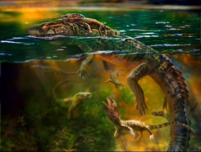 Philydrosauras choristodere reptile
