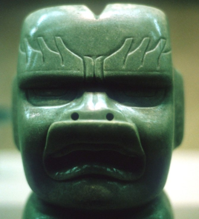 Olmec jade carving