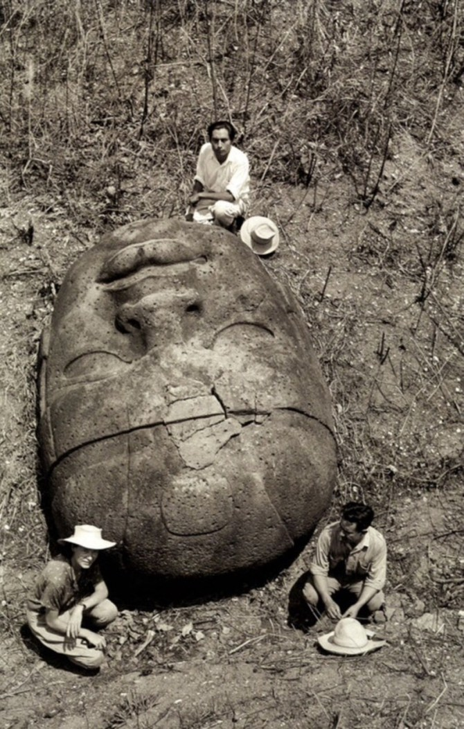 Colossal head Olmec
