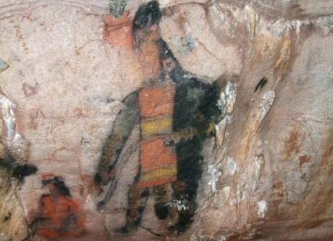 Olmec cave painting
