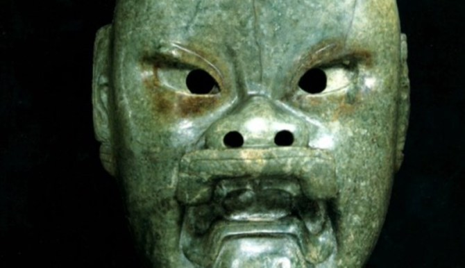 Olmec jaguar man mask