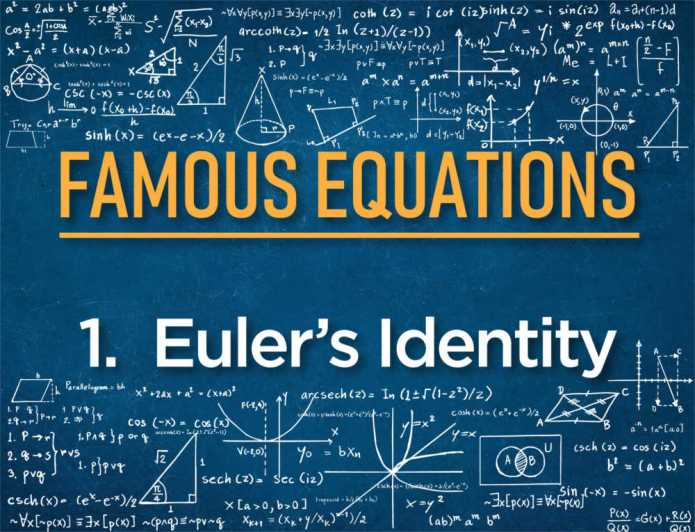 #1 Most Beautiful Equation in Mathematics – Euler's Identity