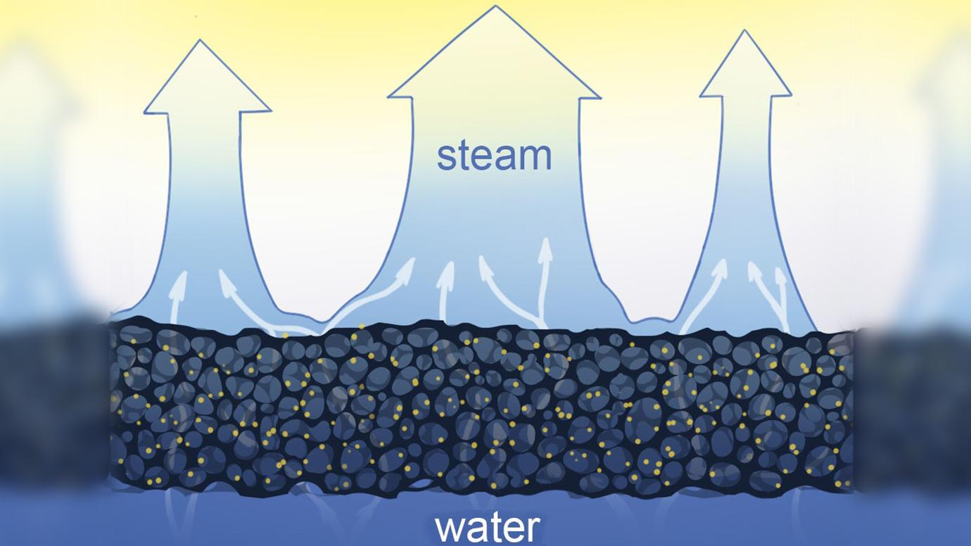 Solar Steam Illustration