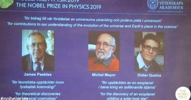 भौतिकशास्त्रतर्फको नोबल पुरस्कार तीनजना वैज्ञानिकहरुलाई