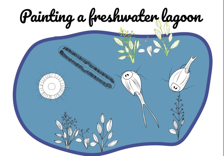 Painting a freshwater lagoon poster EN