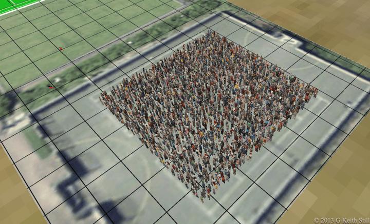 Three people per square meter