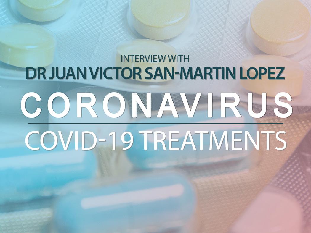 Coronavirus Covid-19 treatment illustration banner