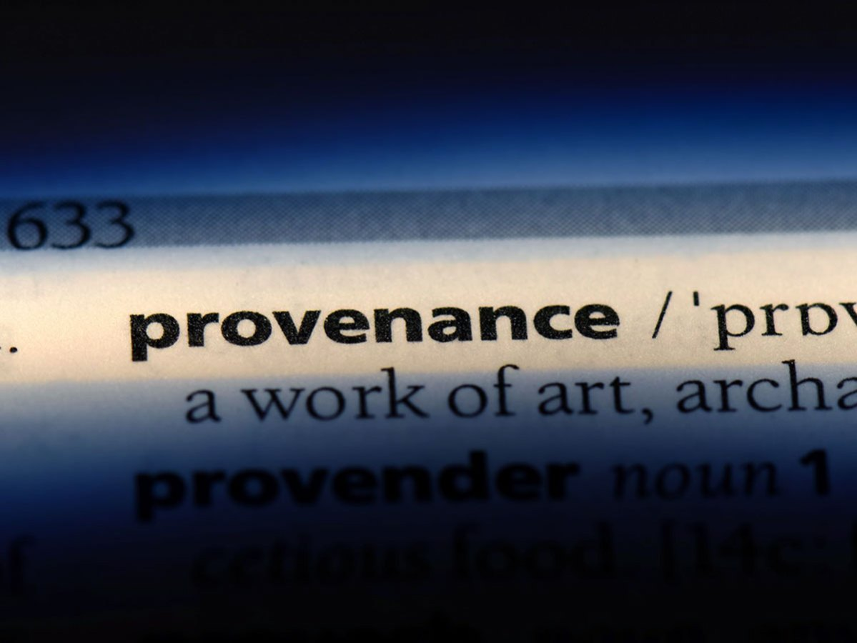 provenance dictionnary definition
