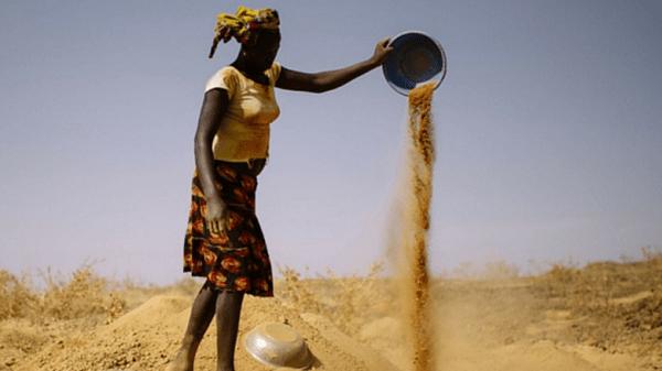 A female artisanal miner